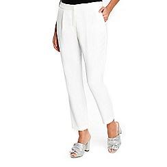 Wallis - Petite ivory slim leg trousers
