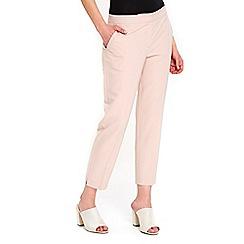 Wallis - Petite blush slim leg trousers