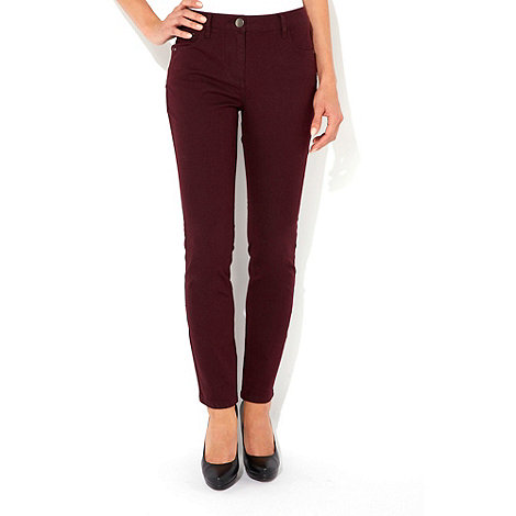 Wallis - Berry zip detail petite jeans