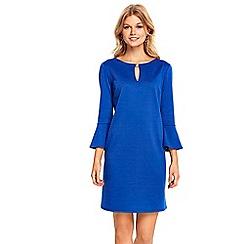 Wallis - Petite cobalt flute sleeves dress