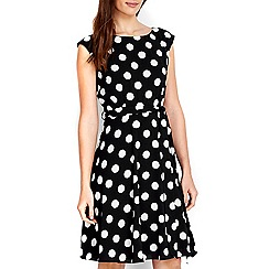 Wallis - Petite black spot dress