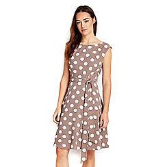 Wallis - Petite taupe spot dress