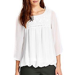Wallis - Petite crochet trim top