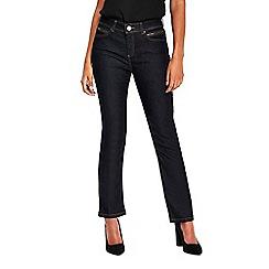 Wallis - Petite indigo harper straight jeans
