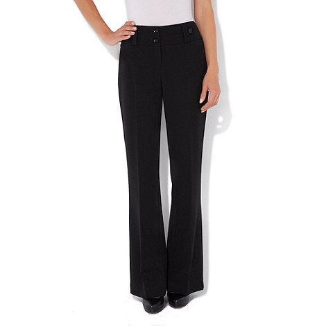 Wallis - Black petite bootcut trousers