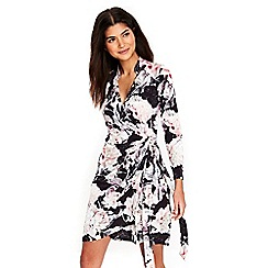Wallis - Petite floral print wrap dress