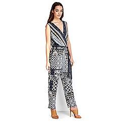 Wallis - Petite printed wrap jumpsuit