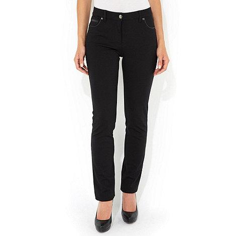 Wallis - Black pu detail petite trouser