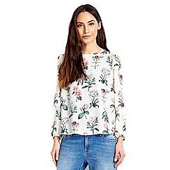 Wallis - Petite ivory floral blouse