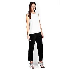 Wallis - Petite black crepe trouser