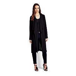 Wallis - Petite black longline jacket