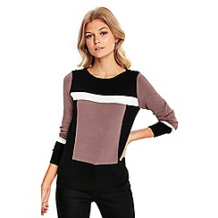 Wallis - Petite stone colour block jumper