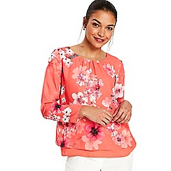 Wallis - Petite floral long sleeve top