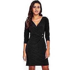 Wallis - Petite black ring jersey dress