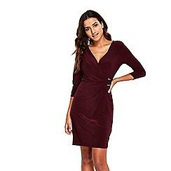 Wallis - Petite plum ring jersey dress
