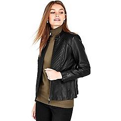 Wallis - Petite black gothic biker jacket