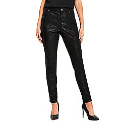 Wallis - Black snake trousers