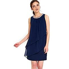 Wallis - Petite navy tiered dress