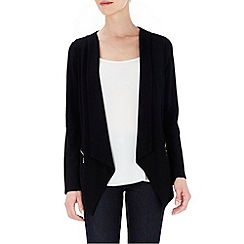 Wallis - Petite black drape jacket