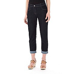Wallis - Petite navy roll up jeans