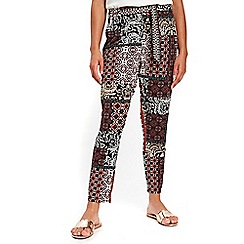 Wallis - Petite coral paisley print trousers