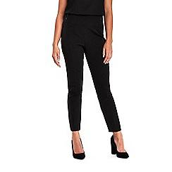 Wallis - Petite black high waist button trouser