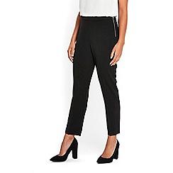 Wallis - Petite black sienna side zip trousers