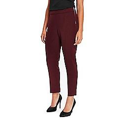 Wallis - Berry sienna side zip trousers