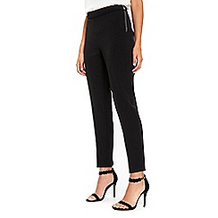Wallis - Petite black side zip smart trousers