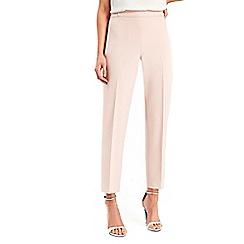 Wallis - Petite blush side zip smart trousers
