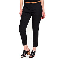 Wallis - Petite black cigarette trousers