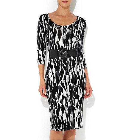 Wallis - Animal petite midi dress