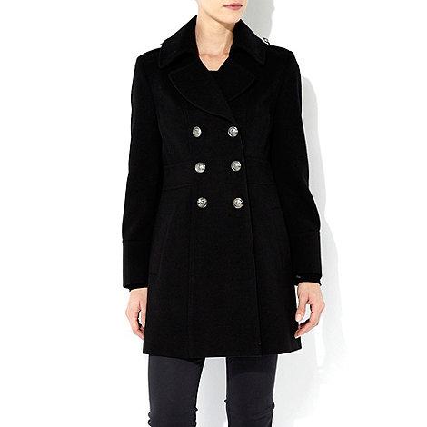 Wallis - Black petite military coat