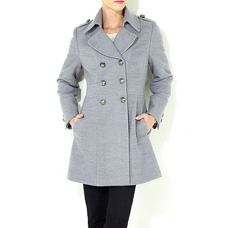 Wallis - Grey petite military coat