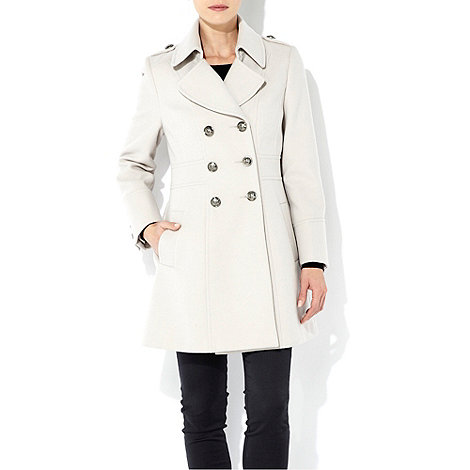 Wallis - Stone petite military coat