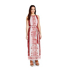 Wallis - Petite paisley metallic maxi dress