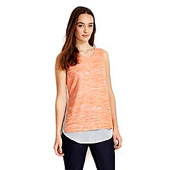 Wallis - Petite orange 2in1 top