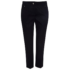 Wallis - Petite black cotton crop trousers