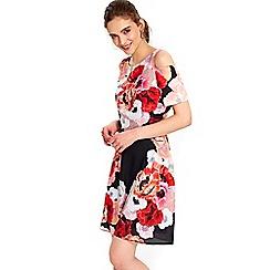 Wallis - Petite floral flare dress