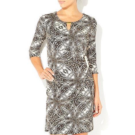 Wallis - Animal print petite wrap dress