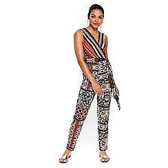 Wallis - Petite coral paisley print jumpsuit