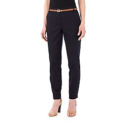 Wallis - Petite black cotton cigarette trousers
