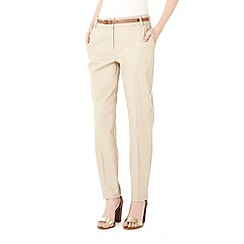 Wallis - Petite stone cotton cigarette trousers