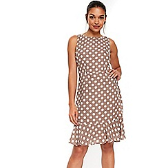 Wallis - Petite polka dot flute hem dress