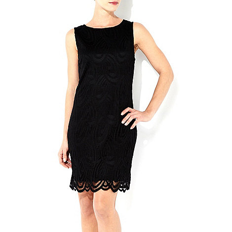 Wallis - Black petite lace shift dress