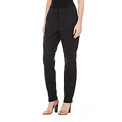 Wallis - Petite black jacquard trouser