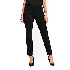 Wallis - Petite black ponte trousers