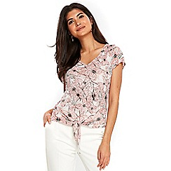 Wallis - Petite butterfly tie front top