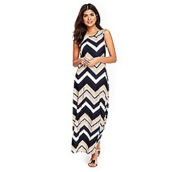 Wallis - Petite chevron maxi dress