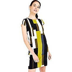 Wallis - Lime colourblock tunic dress